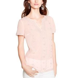 WHM SHORT SLEEVE EMBROIDERED NOTCH TEE